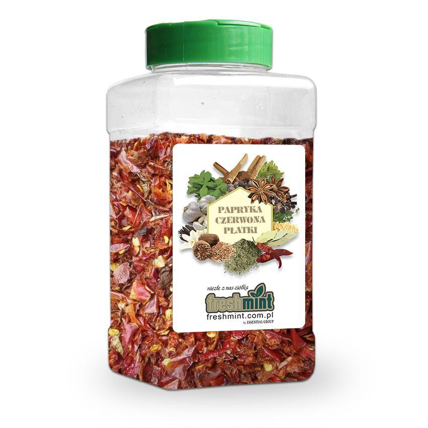 Papryka czerwona płatki - Zioła cięte, warzywa, grzyby, owoce egzotyczne i przyprawy Freshmint Łódź